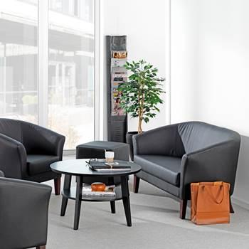 Sofa 2 osobowa ze skóry ekologicznej do poczekalni