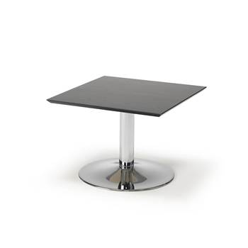 Coffee table, 700x700x500 mm, black, chrome