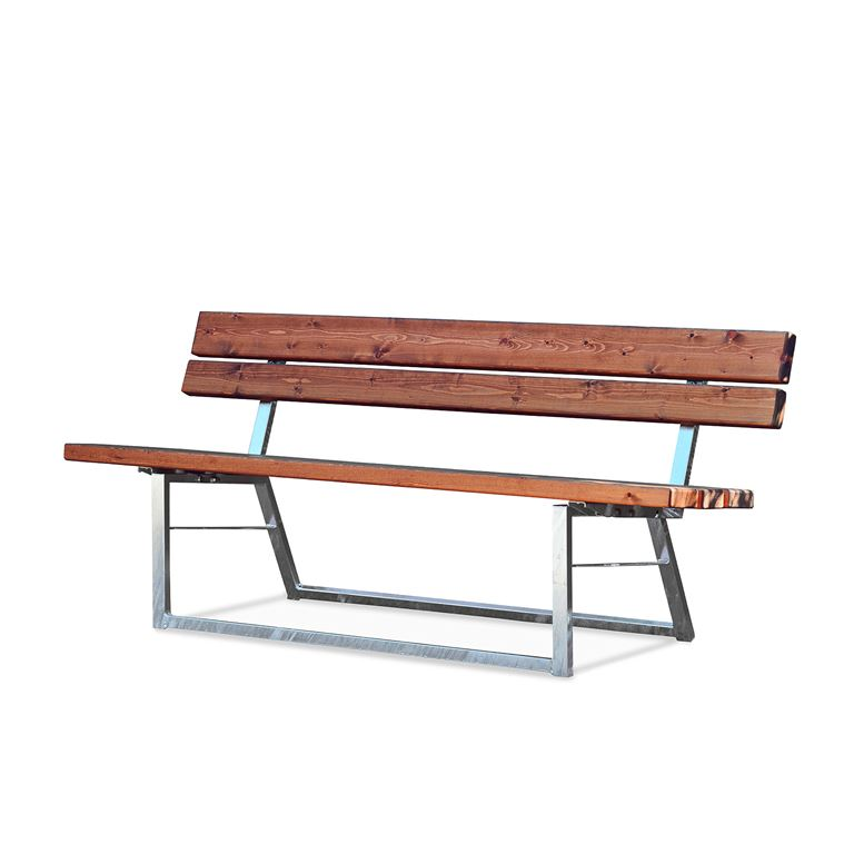Park bench: L1800mm: steel/pine
