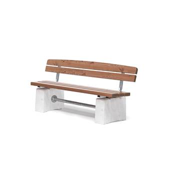 Heavy duty park bench, 750x1800x550 mm