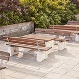Heavy duty park bench
