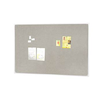 Notice board, 2000x1200 mm, light grey, alu frame