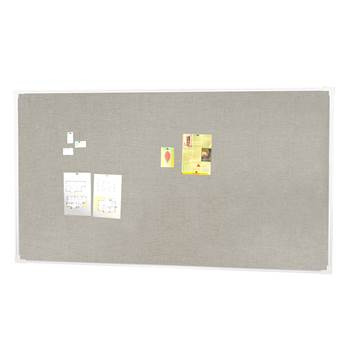Notice board, 2500x1200 mm, light grey, alu frame