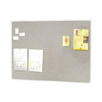 Notice board, 3000x1200 mm, light grey, alu frame