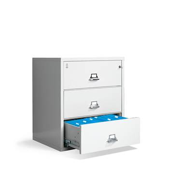 Lateral fireproof cabinet, A4, 3 drawers, 1030x950x565 mm