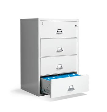 Lateral fireproof cabinet, A4, 4 drawers, 1340x950x565 mm