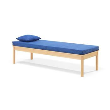 Day bed, incl. mattress and pillow, 1900x700x480 mm, beech, blue