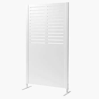 Wooden screen, line, 940x1720 mm, white