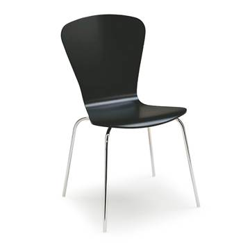 Milla stackable chair, figure, black