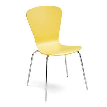 Krzesło z giętkiej sklejki, Kolor:, Żółty