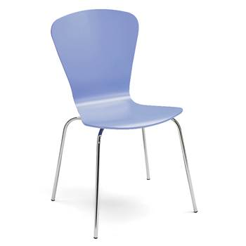 Milla stackable chair, figure, light blue