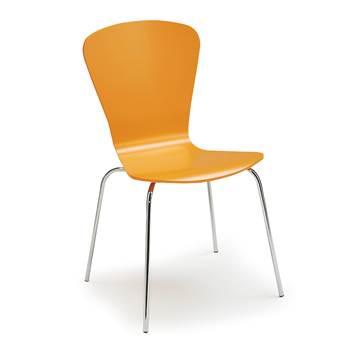 Milla stackable chair, figure, orange