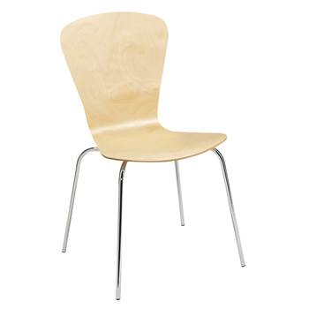 Milla stackable chair, figure, birch