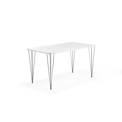 Stół do jadalni o wym 800x1400x720mm Blat biały