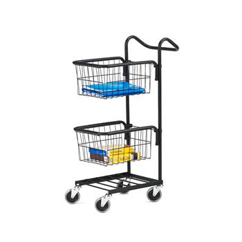 Mini trolley, 2 baskets, 660x360x1070 mm