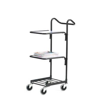 Mini trolley, 2 shelves, 660x360x1070 mm