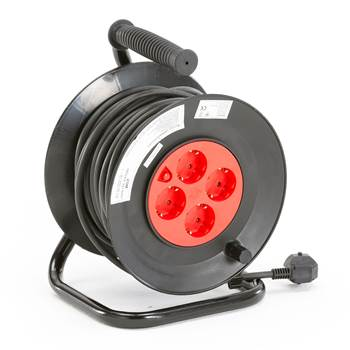 Electric cable reel, grounded, 25 metres