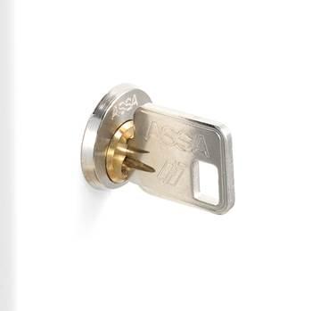ASSA cylinderlås, extra lång regel, 2 nycklar