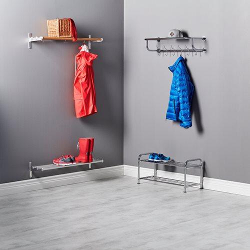 Shoe rack: chrome