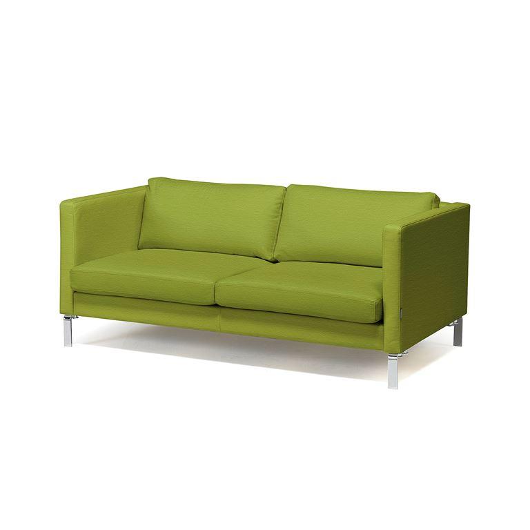 3 siedziskowa sofa z serii KVADRAT tapicerowana tkaniną w kolorze oliwkowym