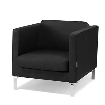 Waiting room armchair, leather, black
