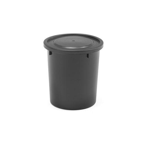 Plasttunna med lock, 35 liter, svart AJ produkter
