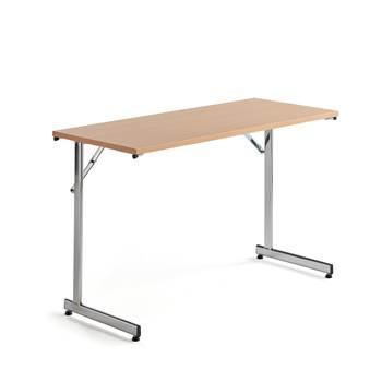 Basic conference table, 1200x500x730 mm, beech, chrome