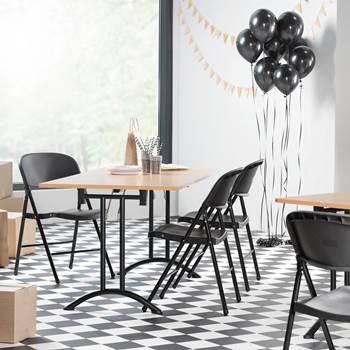 Hopfällbart bord, 1600x800 mm, boklaminat, svart stativ