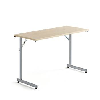 Basic conference table, 1200x500x730 mm, birch, alu grey