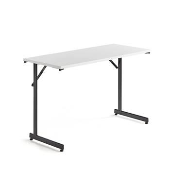 Stół konferencyjny, stelaż czarny, blat biały laminat
