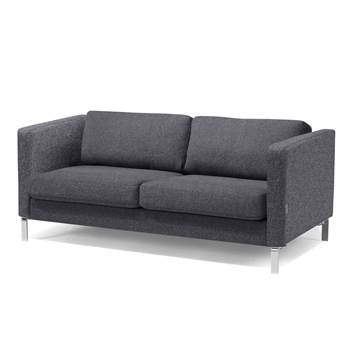 #en Wating room 2,5 seater sofa, dark grey wool