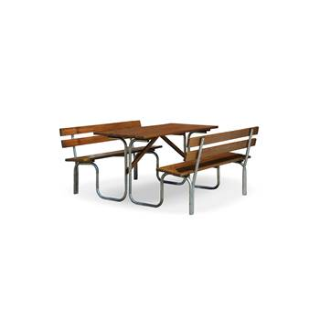 Pine picnic set, 1000x1800x780 mm, stained brown, zinc