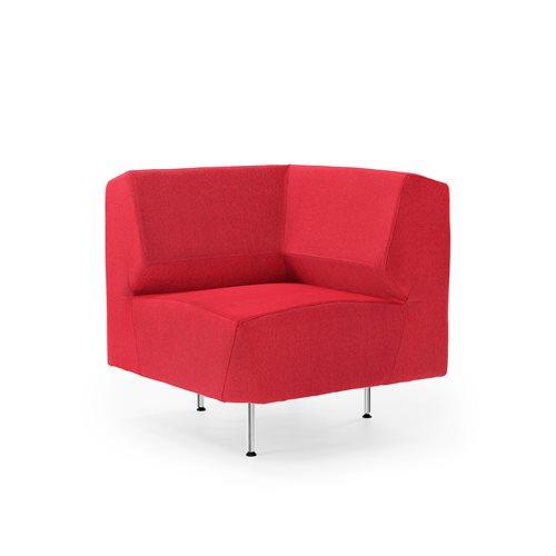 #en Sofa, corner sektion Red, 750x750 mm