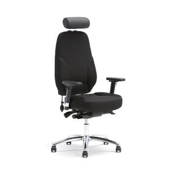 Työtuoli, ergonominen, musta
