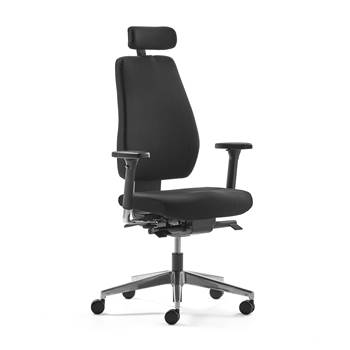 Watford office chair, black fabric