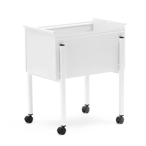 Suspension file trolley, without lid