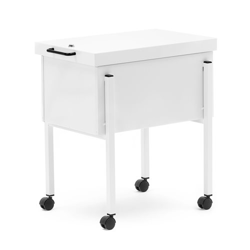 Suspension file trolley with lockable lid