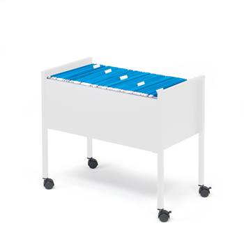 Filing trolley, open top, 655x368x592 mm, light grey