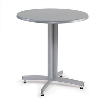 #en Café table in alu laquer with Ø70 Topalit top