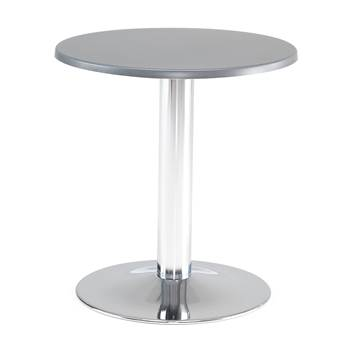 Round café table, Ø700x720 mm, anthracite, chrome