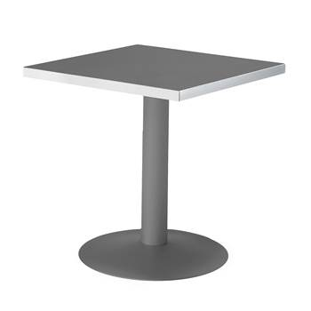 Square café table, 700x700x720 mm, black, black