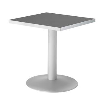 Square café table, 700x700x720 mm, black, grey