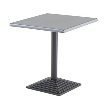 Square café table, 700x700x720 mm, anthracite, black