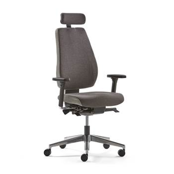 Watford office chair, grey fabric