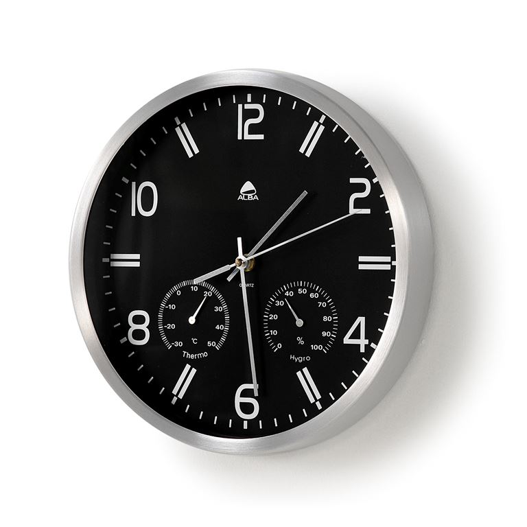 Zegar ścienny z z termometrem i miernikiem wilgotności