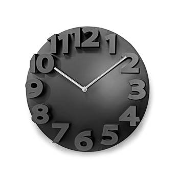 Zegar naścienny z cyferblatem 3D