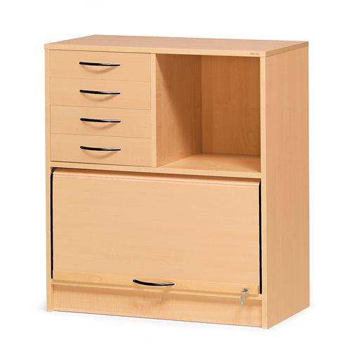 Szafka ADEPTUS z szufladami, Fornir bukowy
