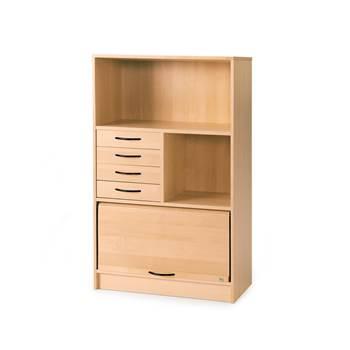 b cherregal mit schubladen u rollladen aj produkte sterreich. Black Bedroom Furniture Sets. Home Design Ideas