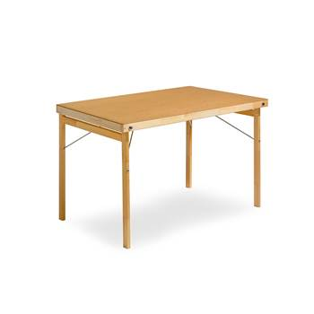 Wooden folding table, 1200x700x740 mm, hard board, wood