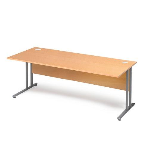 Työpöytä Flexus, suora levy, peitelevy, 1800x800 mm, pyökkilaminaatti